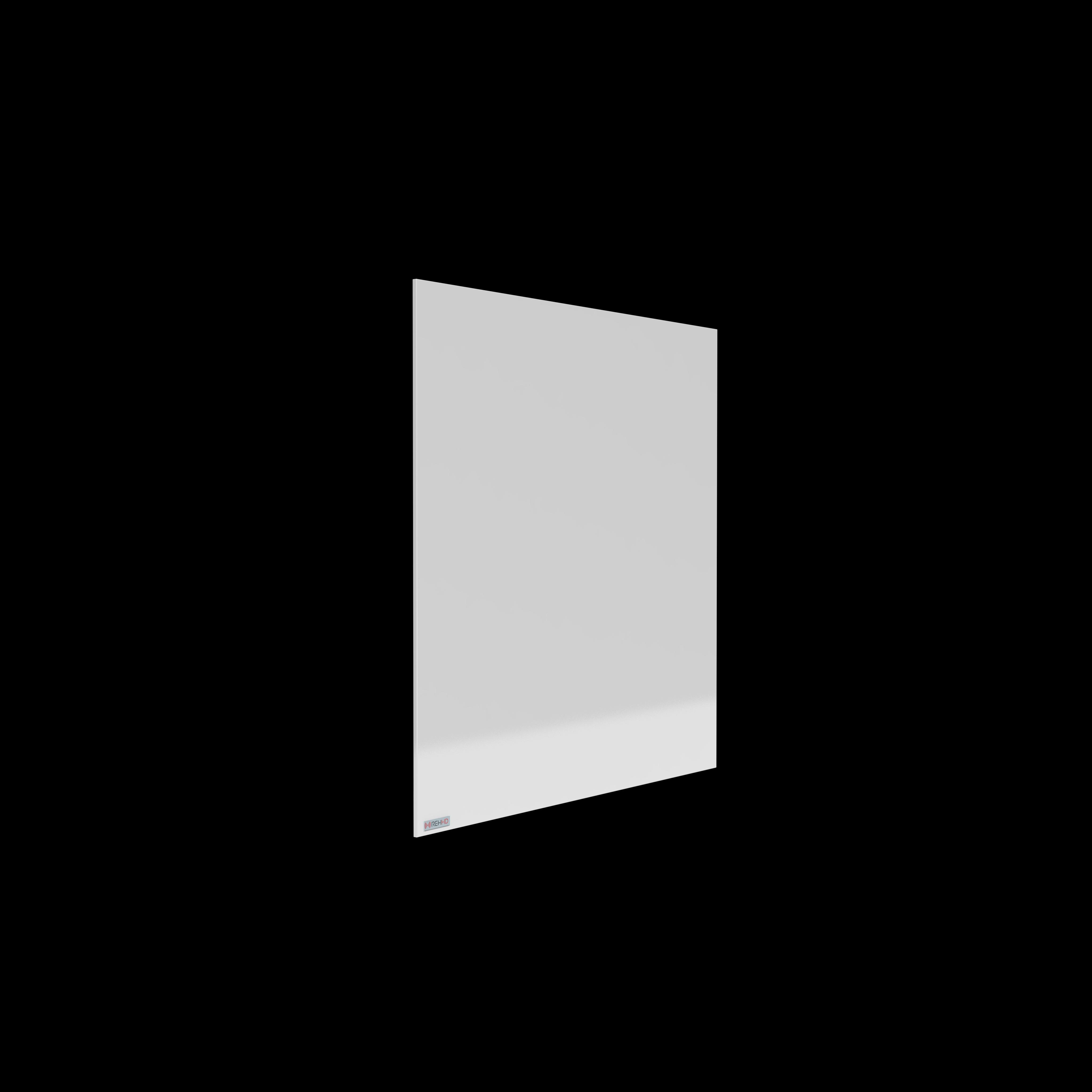 Infinity Frameless White Aluminium Infrared Panel Heater